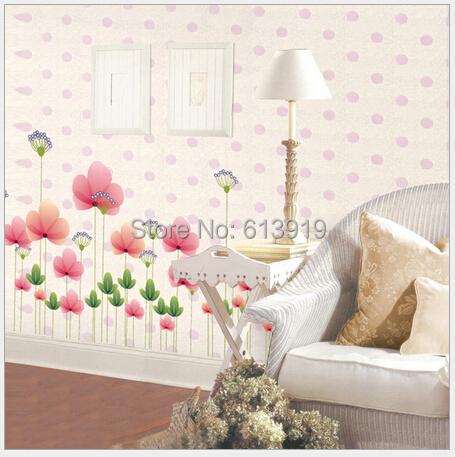 3D Removable Tiffany Lotus Wall Sticker Wedding Decorating Sitting Room Decor Size 60*90cm - DIY Decoration Sky store