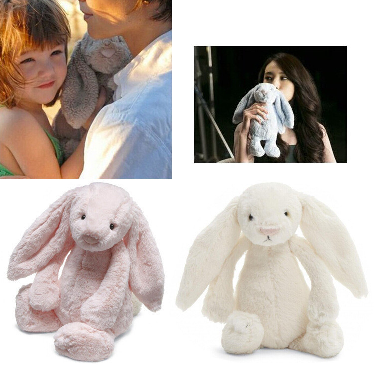 2015 Lovey Bunny Stuffed Rabbit Cut Plush Soft Toys Promotional Bunny Doll Rabbit Plush Toy With Long Ears Appease Rabbit 25cm(China (Mainland))