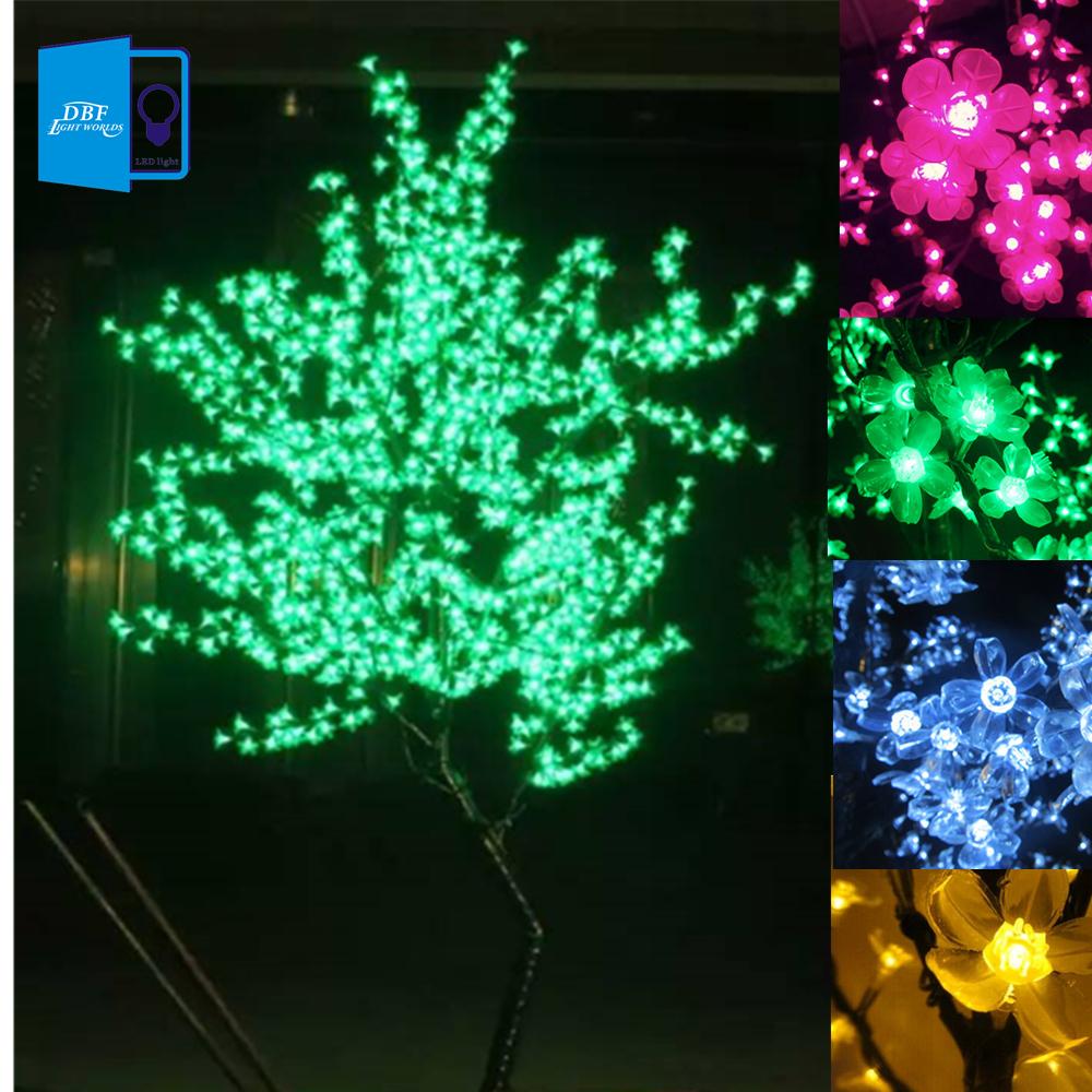 New Luz De LED Cherry Blossom Tree Light Luminaria 1.5M 1.8M LED Tree Lamp Landscape Outdoor Lighting for Christmas Wedding Deco(China (Mainland))