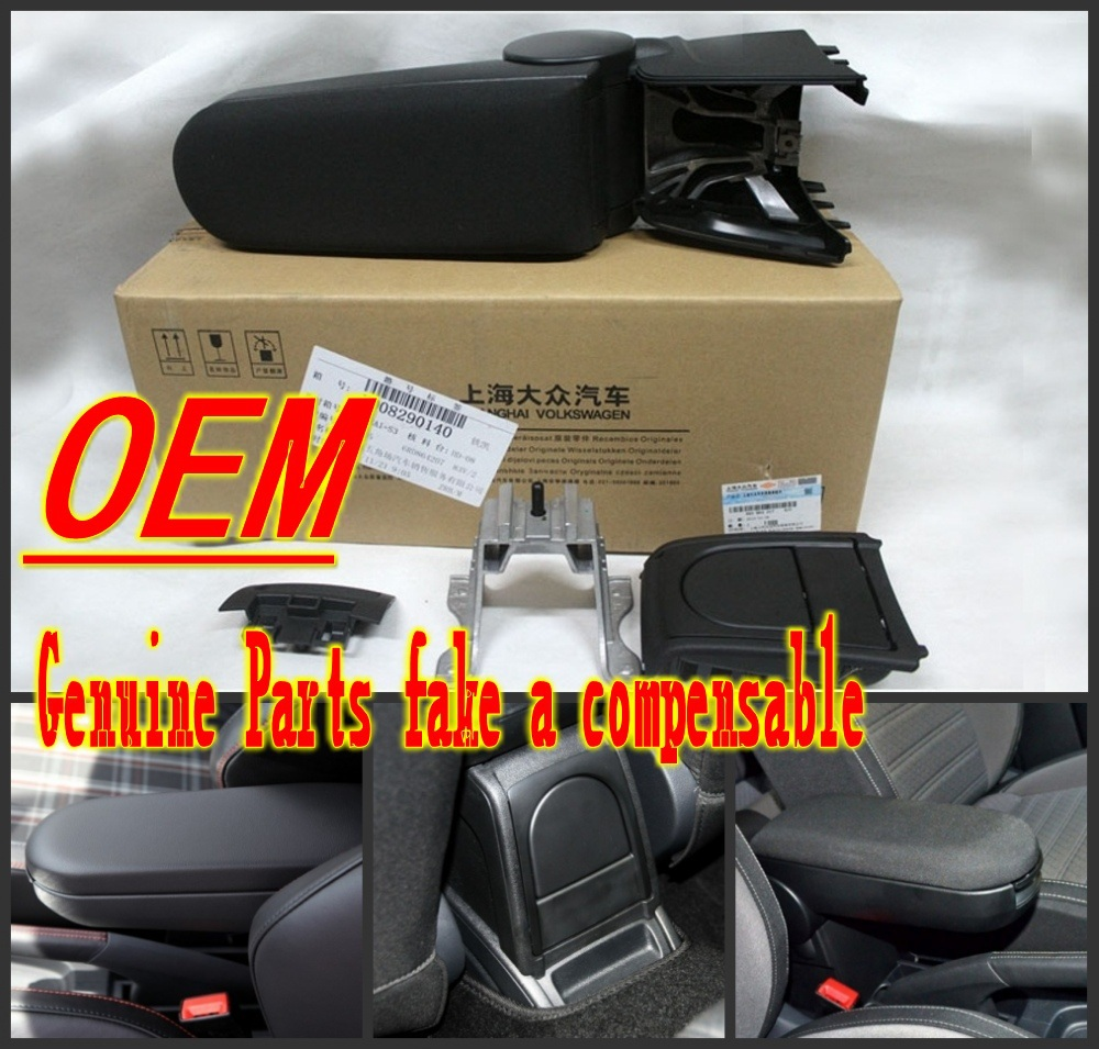 The new Volkswagen Polo 2011-2015 armrest with cup holder boxes, bag storage boxes, storage console original automotive products(China (Mainland))