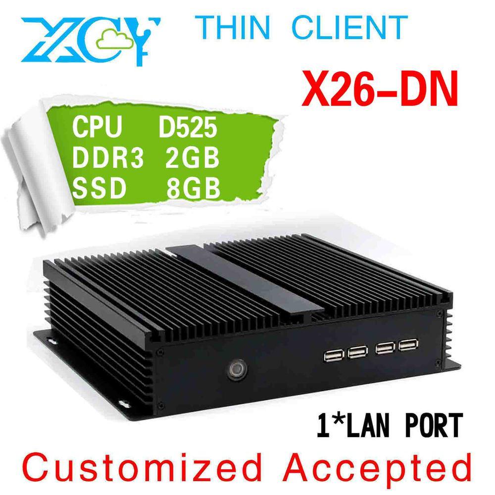 FAST MINI PC HTPC MINI PC Intel atom D525 1.8GHz 2G RAM 8G SSD thin client mini computer mini ITX(China (Mainland))