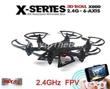 MJX X800 2.4G RC Drone Hexacopter 6 Axis Gyro UAV 3D Roll Auto Return Headless Helicopter with HD C4005 0.3MP Camera