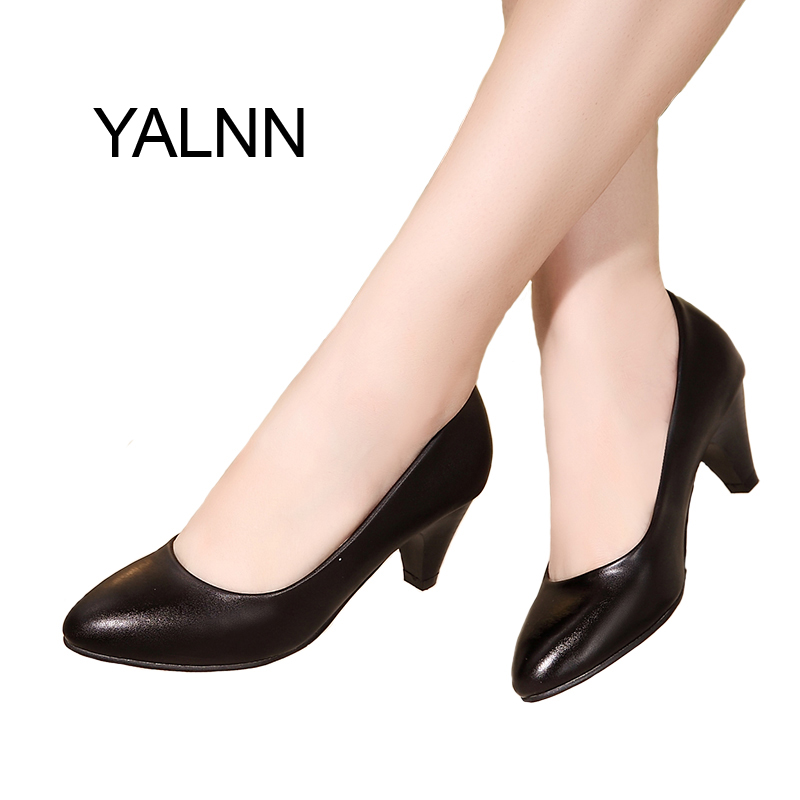 2017 New Career Women Pumps Shoes Women Shoes 5cm Classic Black Pumps High Heels Shoes Women for Girls(China (Mainland))