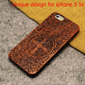 New Style Bamboo Carving Wood Hard Back Case Cover for iphone 5S Wooden Phone Case For