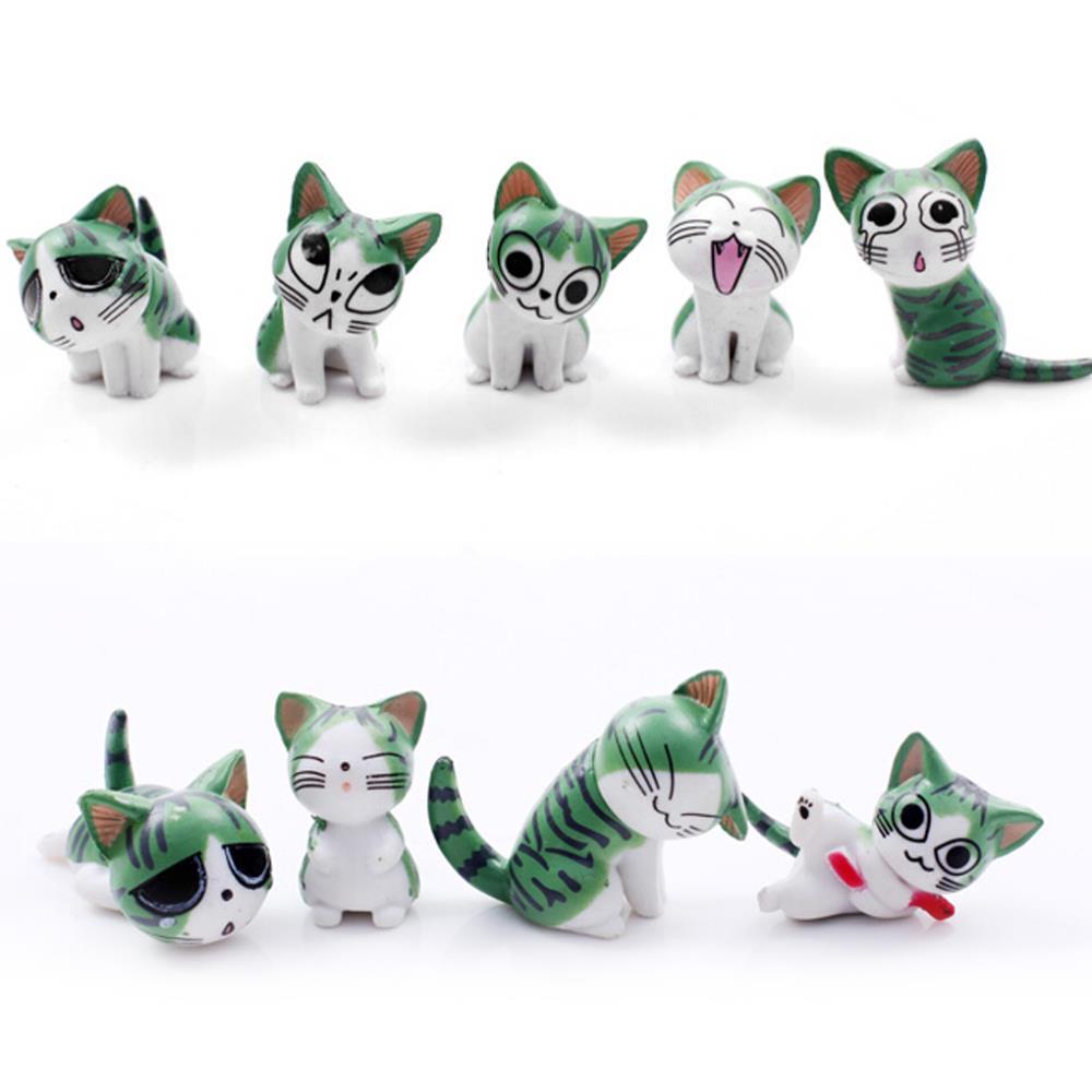 Гаджет  New Arrival 9 PCS Per Set Cute Cheese Cat Pendants Home Decor Decration Kids Girl Toy Gift  None Игрушки и Хобби