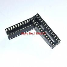 Buy 50pcs 28pin DIP IC sockets Adaptor Solder Type 28 pin Narrow body for $4.84 in AliExpress store