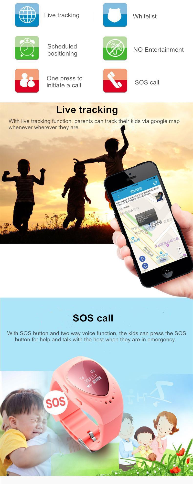 ถูก กันน้ำมินิจีพีเอสนาฬิกาเด็กGo GPSนาฬิกาเด็กgpsติดตามSOSฉุกเฉินป้องกันการสูญหายสมาร์ทโทรศัพท์มือถือA Ppสร้อยข้อมือสายรัดข้อมือ