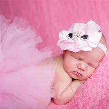 Newborn Baby Infant Costume Outfit Princess Tutu Skirt Matching Headband New Newborn Baby Fashion Tutu Design Photography Props(China (Mainland))
