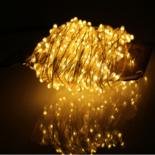 30m 300LEDs Outdoor Christmas Fairy Lights Warm White Silver Wire LED String Lights Starry Light+Power Adapter(UK,US,EU,AU Plug)(China (Mainland))