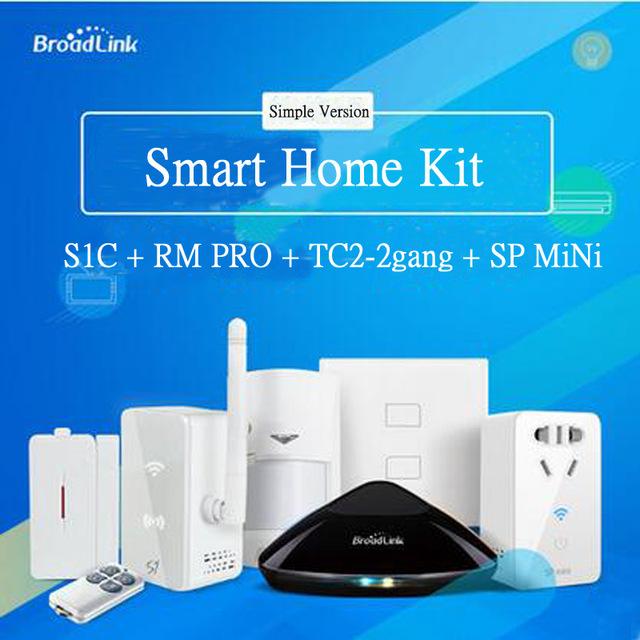 Smart home Automation,Broadlink S1/S1C,Broadlink RM2 Rm Pro Universal Intelligent Remote Controller,Wall Switch TC2 2gang,SPmini<br><br>Aliexpress