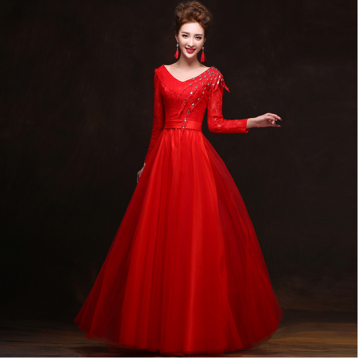 Model Evening Dress EM541 Gorgeous Half Sleeve Party Dresses Elegant Women
