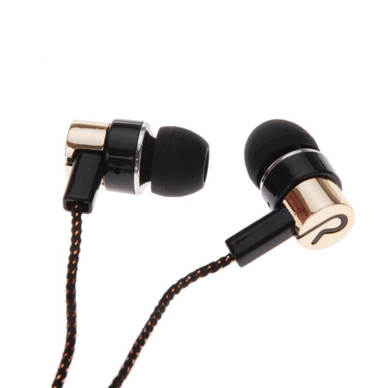 MP3/mp4 ניסיון סאב סטריאו אוזניות באוזן אוזניות Earbud 1.1 מ ' רעיוני סיבי בד הקו מתכת אוזניות משלוח חינם