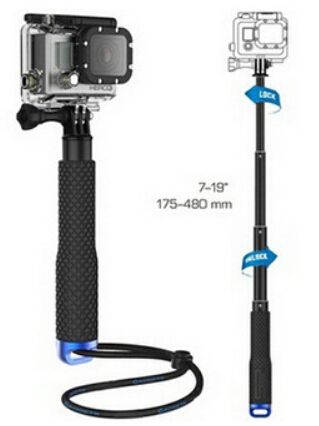 GoPro Aluminum selfie Stick Extendable Pole Telescoping Handheld Monopod with Mount Adapter for GoPro Hero 1 2 3 3+ 4 SJ4000()