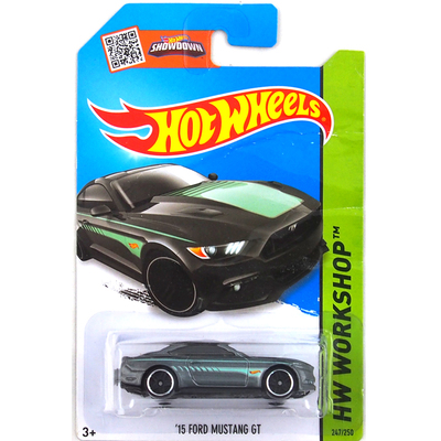 Free Shipping Hot Wheels Black Mustang GT Metal Alloy Model Wholesale Metal Cars For Car Collection 1:144 metal models(China (Mainland))