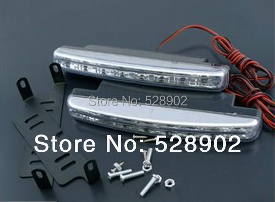 2PCS Super White 8 LED Universal Car Light Daytime Running Auto Lamp DRL Auxiliary Light In The Day Free Shipping(China (Mainland))