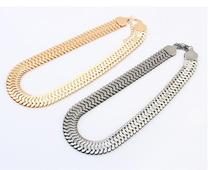 Gold Silver Chunky Chain Necklace Women 2015 New Collar Fashion Vintage Jewelry Necklace Accessories Jewellery