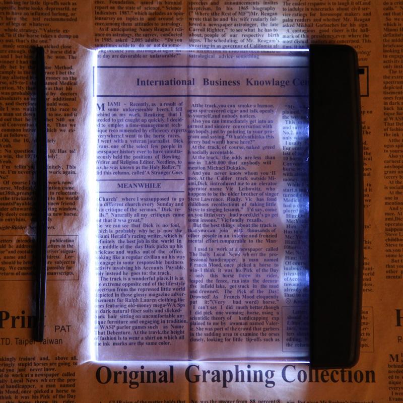 Reading Lamp Creative Plastic LED Light Panel Lightwedge Books Reading Lamp Light Book Lights(China (Mainland))