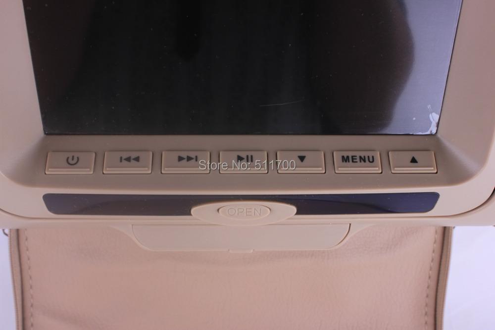 2x 7 inch car headrest dvd player zipper cover fm. Black Bedroom Furniture Sets. Home Design Ideas