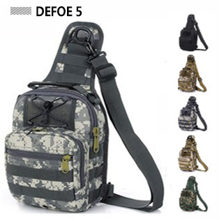 MOLLE System Single Shoulder Sling Chest Bag,Ultralight Hunting Range Soldier Ultimate Stealth Heavy Duty Carrier - DEFOE 5 Outdoors store