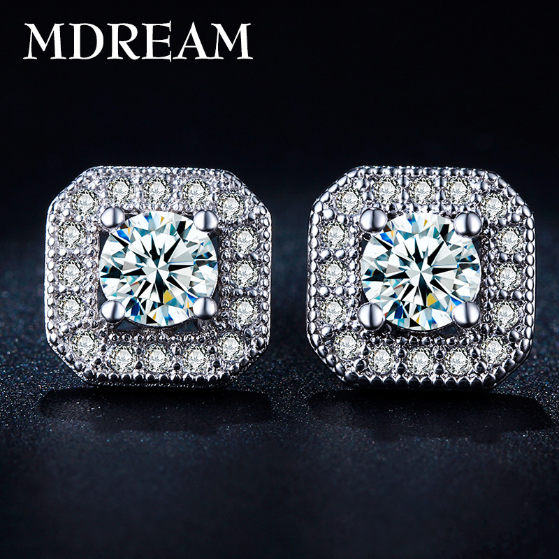 2016 MDREAM White Gold filled 30% silver earing Sqaure AAA Zircon CZ diamond fashion earrings Jewelry wedding earings LSE035(China (Mainland))