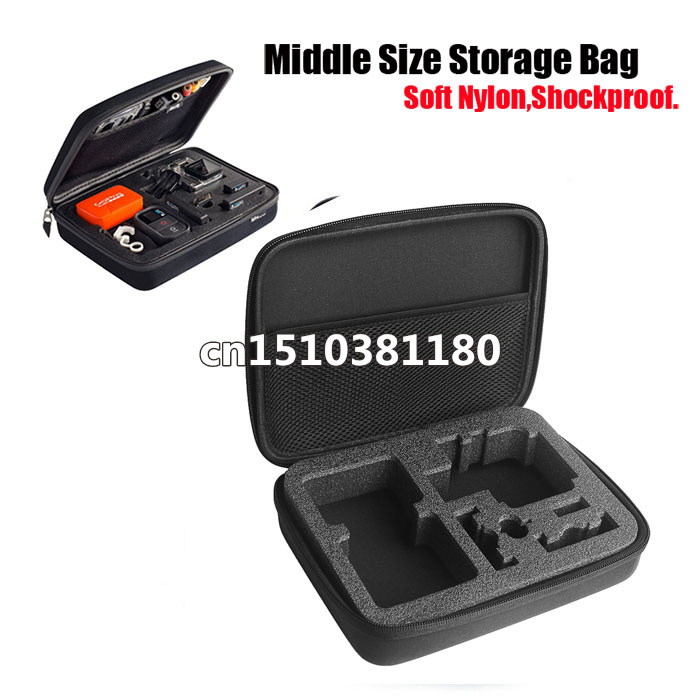 Medium Sized Go Pro Accessories Case Shockproof Protective Case Storage Carry Case For GoPro Hero 4 2 3 3+ SJ4000(China (Mainland))