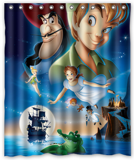 Peter Pan Bathroom Shower Curtain