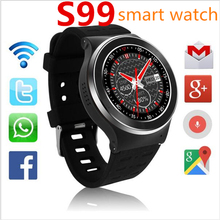 Buy  (In Stock) ZGPAX S99 3G Smart Watch Android 5.1 2.0MP Cam GPS WiFi Pedometer Heart Rate 3G Smartwatch PK KW88 No.1 D5 Q3 Plus for $88.91 in AliExpress store
