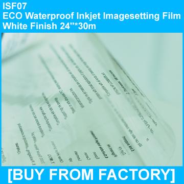 "ECO Waterproof Inkjet Imageseetting Film White Finish 24""*30M"