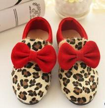 New 2015 Spring/Autumn kids shoes Butterfly-knot kids sneakers Leopard pattern lovely girls shoes casual fashion baby shoes(China (Mainland))