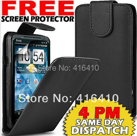 Upper and lower open FLIP Cell Phones CASE FOR HTC EVO 3D G17 X515m+ FREE 1 STYLUS+ LCD Film(China (Mainland))