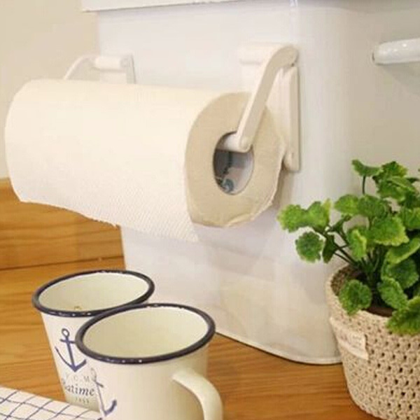 Roll paper towel holder magnetic bathroom fridge napkin for Bathroom napkin holder