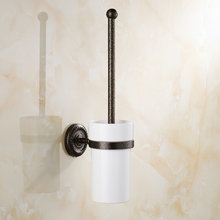 Roman Bronze Toilet Brush Holders Brass Wall Mounted Bathroom Accessories 02TBH(China (Mainland))