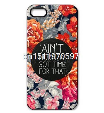 Girl Nobody Got Time Natural Men Custom Printed Hard Plastic Mobile Protector Case Cover Iphone 4 4S 5 5S 5C 6 4.7 - ShoppingBar store