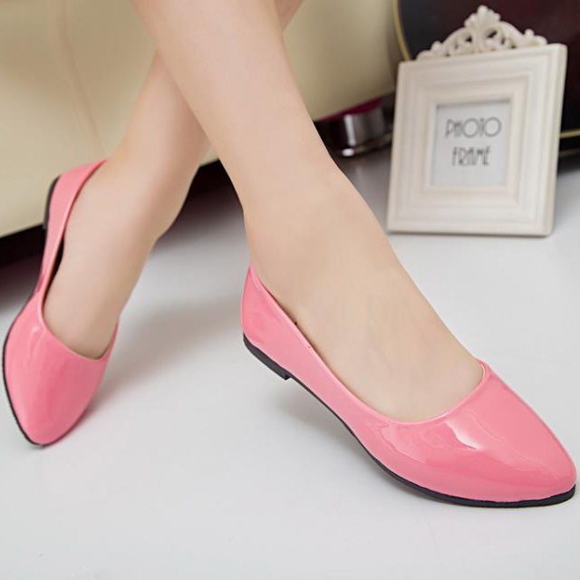 Hot 2015 Fashion Trend Women Shoes Solid Candy Color Plus Yards PU Shoes Woman Flats Casual Variety Comfortable Shoes Discount<br><br>Aliexpress