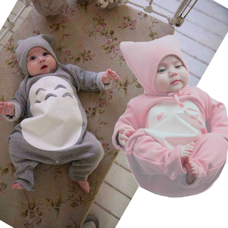 Newborn Cute Baby Clothing Long Sleeve Cotton Baby Rompers Girls Boys Clothes roupas de bebe infantil costumes