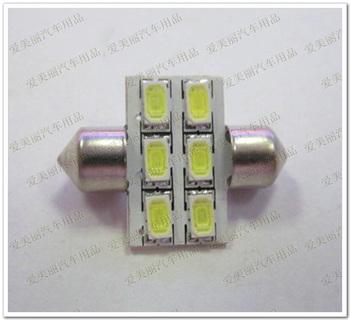 Free shipping !! 10PCS 5630 6 LED 6 smd Auto Interior bulb Dome Festoon Car Interior Reading License plate 36mm 12v / 24v