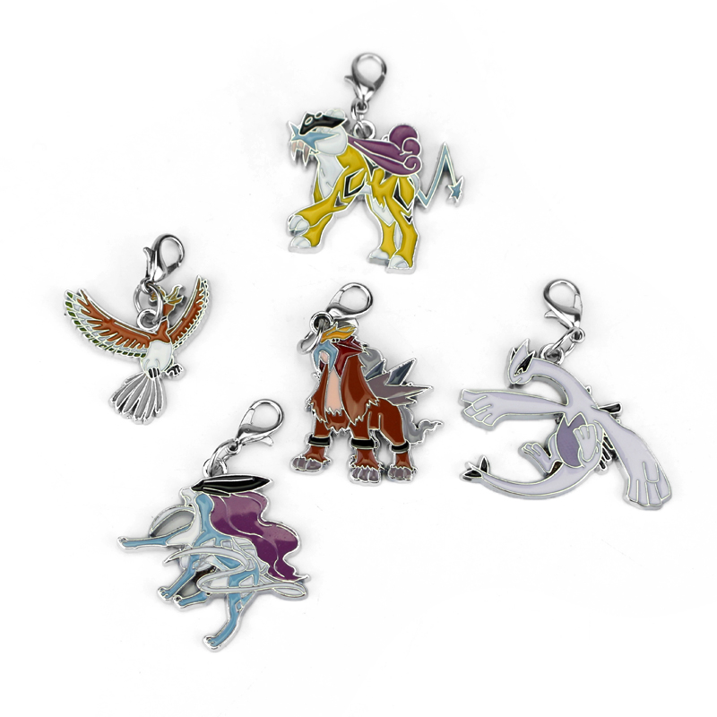 5 Styles Anime Pokemon Go Monster Cartoon Alloy Metal Key Chain For Boy And Girl Gift(China (Mainland))