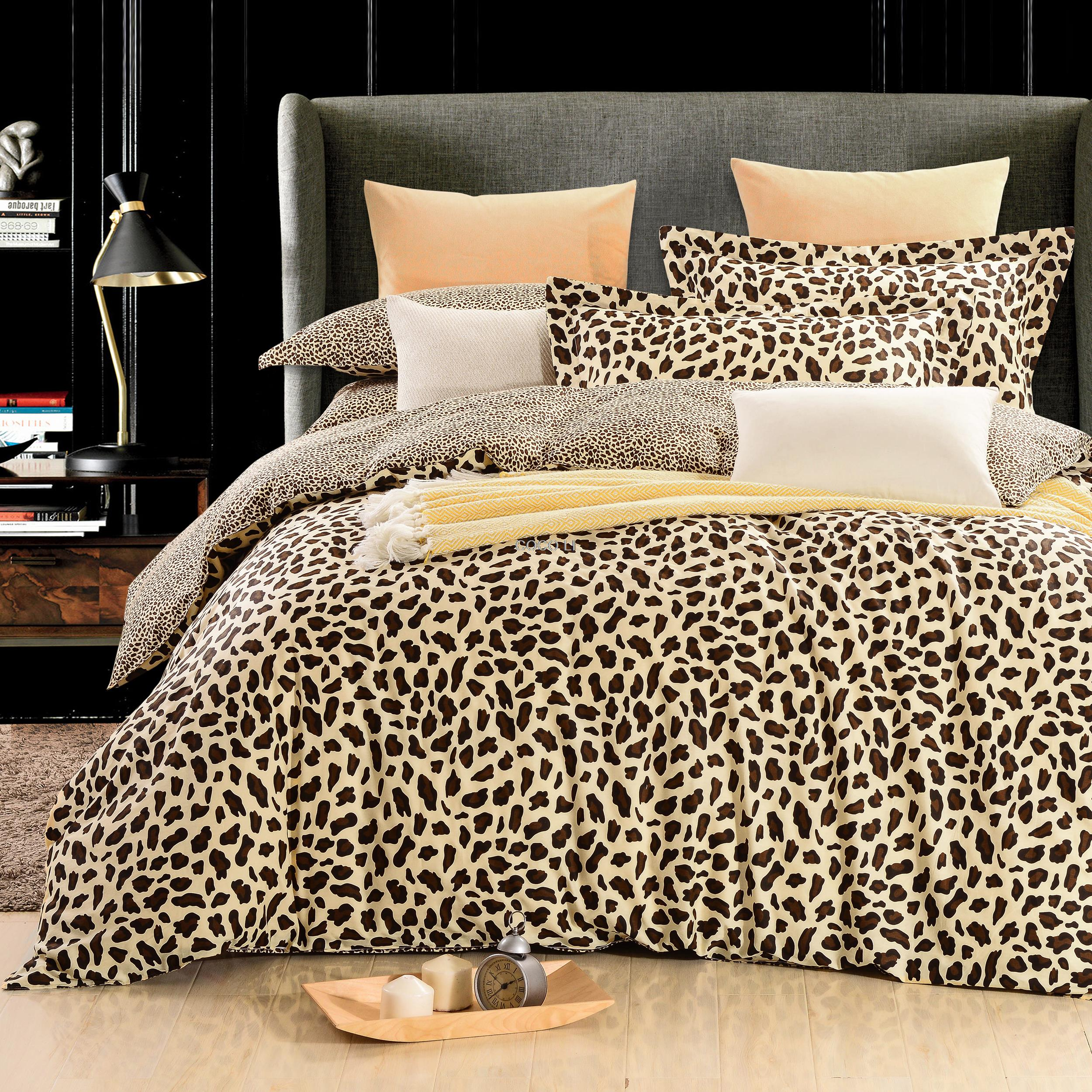 high quality nature duvet covers promotionshop for high quality  - keluo  natural cotton beige leopard duvet cover set king twin queensize include one duvet cover two pillowcase pcs