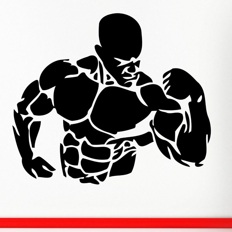 Gym Sticker Fitness Decal Bodybuilding Posters Name Muscle