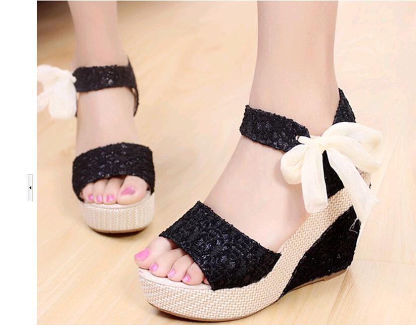 new 2015 Princess sandals summer open toe platform wedges women size 35-39 - Online Store 139992 store