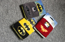 Superhero series Batman Wonder woman cool Cartoon waistband unisex Cotton Weightlifting Gym Yoga Wristband Universal(China (Mainland))