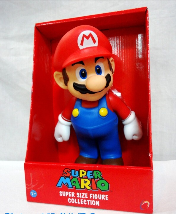 NEW 2015 HOT Sell Retail 9 inch 1pcs Cute Super Mario Bros MARIO PVC Action Figure Doll toy 23cm(China (Mainland))