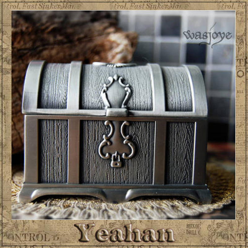 Double-sided beast Pirates of the Caribbean Rainbow chest jewelry box Wedding Gift Home Decoration metal jewelry case(China (Mainland))