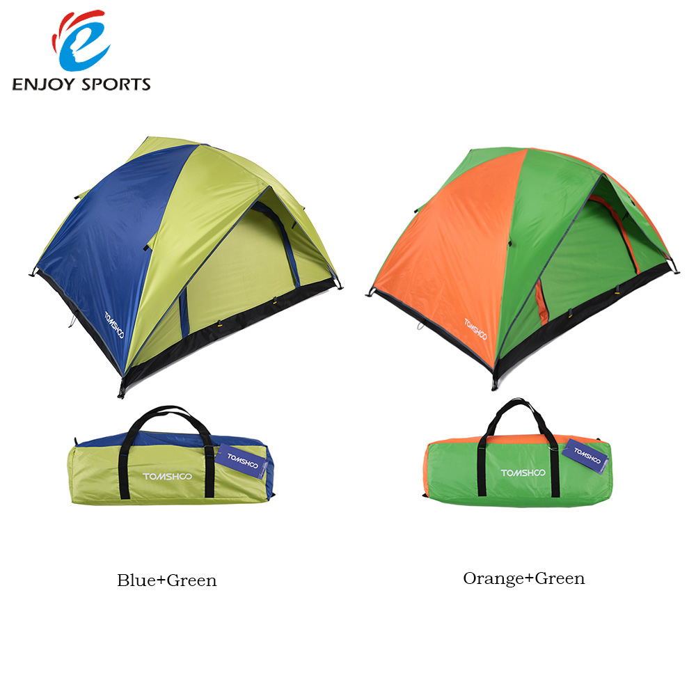 TOMSHOO Double Layer Camping Tent 2 Person Double Door Rainproof Tents for Hiking Hunting 200x150 x115cm US Stock(China (Mainland))
