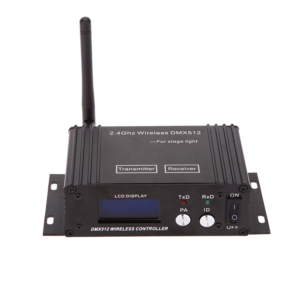 2.4G DMX Wireless Transceiver LCD Display Power Adjustable Repeater 512 Controller Transmitter Receiver Lighting Controller(China (Mainland))