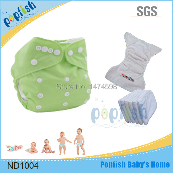 Free shipping Popfish 1pc cute infant baby double row snap baby pocket cloth diaper printed pul reusable baby cloth cover(China (Mainland))