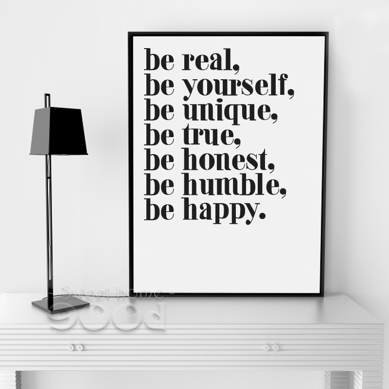 Buy Inspiration Quote Canvas Painting Poster Wall Pictures For Living Room