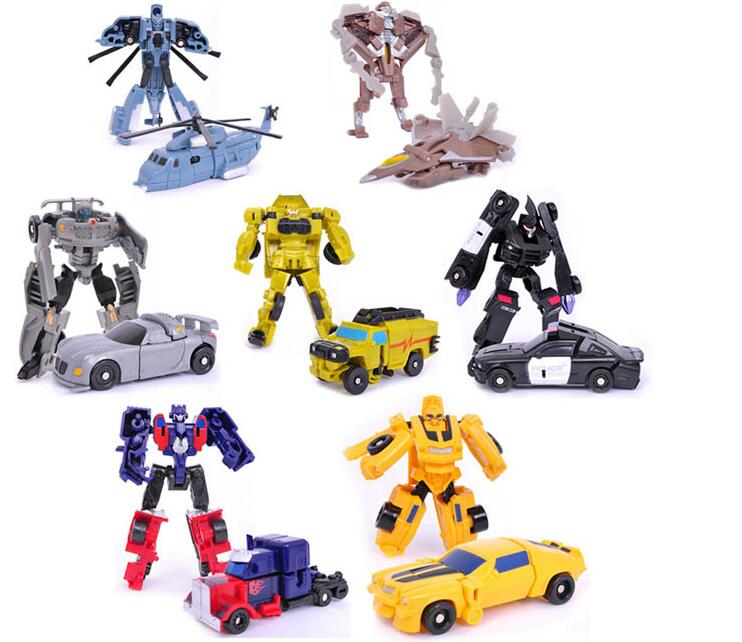 7pcs Transformation Kids Classic Robot Cars Toys Bumblebee For Children Action&Toy Figures Rescue Bots Optimus Prime Juguetes(China (Mainland))