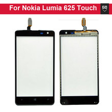 Black Outer Glass Panel Touch Screen Digitizer Replacement Part For Nokia Lumia 625 10pcs/lot