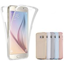 Phone Case Samsung Galaxy S6 S6Edge S7 S7Edge Transparent 360 Degree Protective S5 A3 A5 A7 J3 J5 J7 Note3 4 5 Soft TPU - Sen Yuan International Co., Ltd store